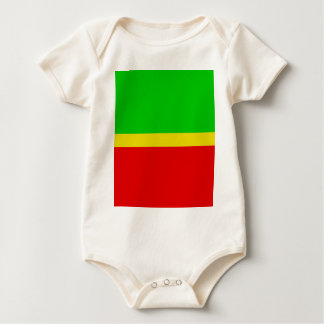 Green, yellow, and red. baby bodysuit