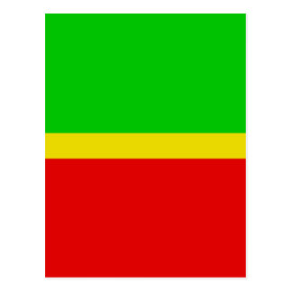 Green, yellow, and red. postcard