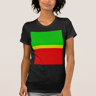 Green, yellow, and red. t-shirts
