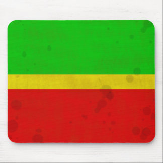 Green, yellow, and red with water stains mouse pad
