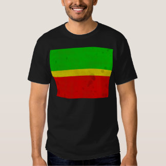 Green, yellow, and red with water stains t shirt