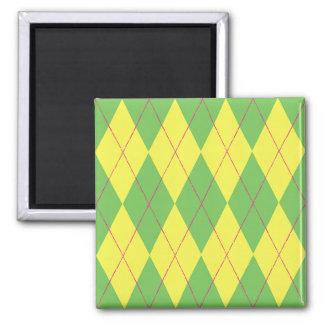 Green & Yellow Argyle Magnet