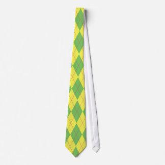 Green & Yellow Argyle Tie