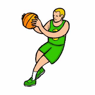 Green yellow basketball player photo cutouts