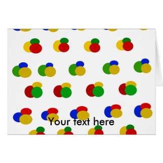 Green yellow blue red polka dots stationery note card