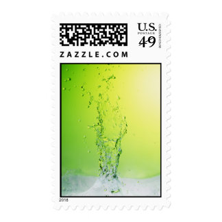 GREEN YELLOW BUBBLES SPLASHES WATER DROPS DIGITAL STAMPS