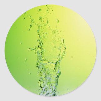 GREEN YELLOW BUBBLES SPLASHES WATER DROPS DIGITAL STICKERS