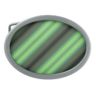 Green & Yellow Checkered Tubes Belt Buckles