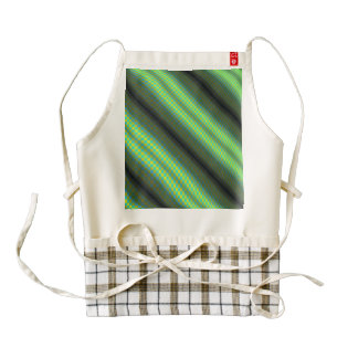 Green & Yellow Checkered Tubes Zazzle HEART Apron