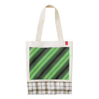 Green & Yellow Checkered Tubes Zazzle HEART Tote Bag