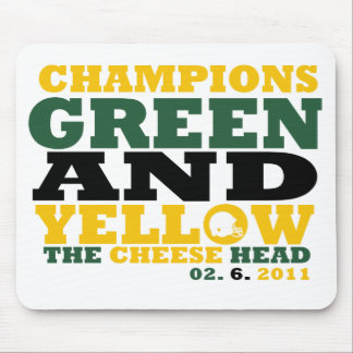 Green & Yellow (Cheese head) Mouse Pad