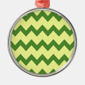 Green Yellow Chevrons Ornament