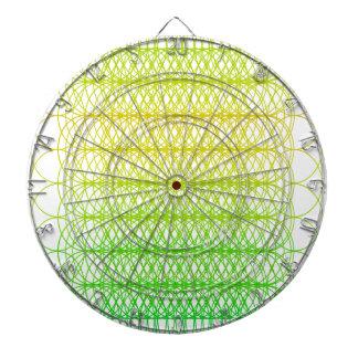 Green Yellow Circle Dartboard