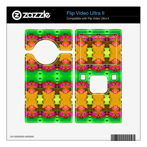 Green yellow colorful ribbons flip video ultra II skin