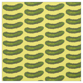 Green Yellow Dill Pickle Pickles Fabric
