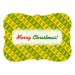 [ Thumbnail: Green & Yellow Dollar Signs ($) Striped Pattern Invitation ]