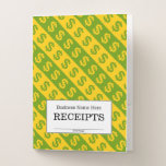 [ Thumbnail: Green & Yellow Dollar Signs ($) Striped Pattern Pocket Folder ]