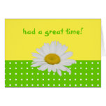 Green Yellow Dots Hospitality  Card