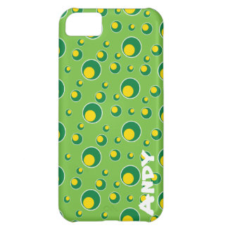 Green Yellow Dots Pattern iPhone 5 Cell Case Case For iPhone 5C