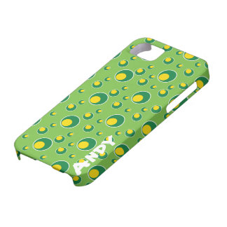 Green Yellow Dots Pattern iPhone 5 Cell Case iPhone 5 Cover