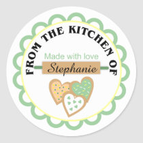 Green Yellow Easter Baking Stickers