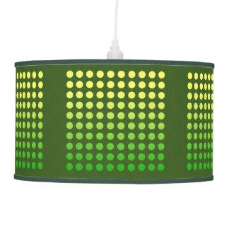 Green & Yellow Fade Polka Dot Pendant Lamp