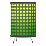 Green & Yellow Fade Polka Dot Tripod Lamp
