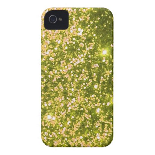 Green yellow faux trendy, cool, classic, girly iPhone 4 Case-Mate cases