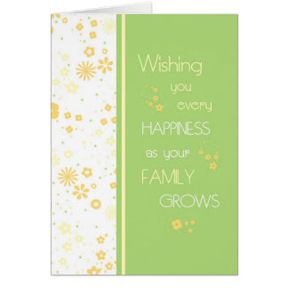 Green Yellow Flowers Congratulations on Expecting Card