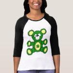 Green/Yellow Football Bear T-Shirt