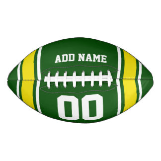 Green Yellow Football Jersey Stripes