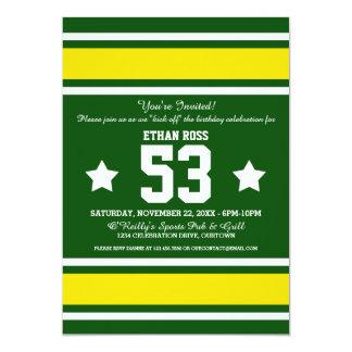 Green Yellow Football Jersey Stripes Card