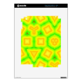 Green & Yellow geometric pattern Decals For The iPad 2