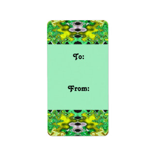 green yellow Gift tags Address Label