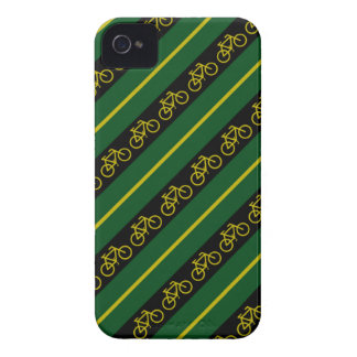 Green Yellow Gold Bike Bicycle Stripes Blackberry iPhone 4 Cover
