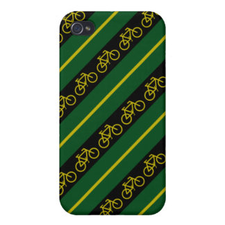 Green Yellow Gold Bike Bicycle Stripes iPhone 4 Case
