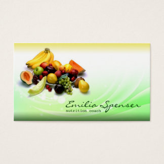 Green & Yellow Gradient Healthy Life/Diet Card