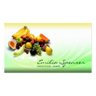 Green & Yellow Gradient Healthy Life/Diet Card Double-Sided Standard Business Cards (Pack Of 100)