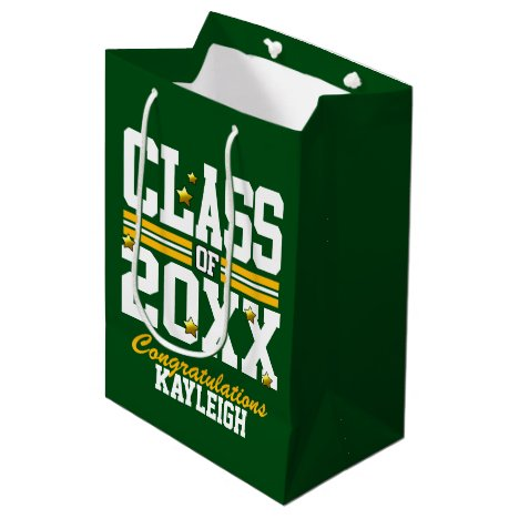 Green|Yellow Graduating Class Year Medium Gift Bag