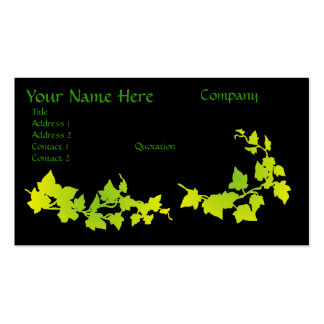 Green & Yellow Ivy Business Cards