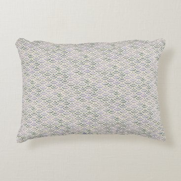 Beach Themed Green Yellow Mermaid Pastel Accent Pillow