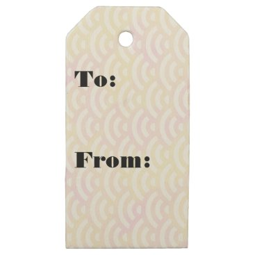 Beach Themed Green Yellow Mermaid Pastel Wooden Gift Tags