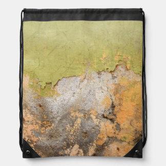 Green & Yellow Mottled Abstract Art Backpacks