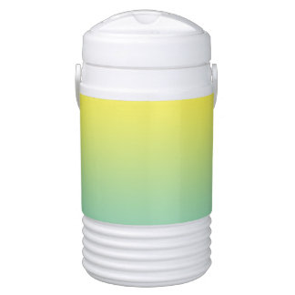 Green & Yellow Ombre Beverage Cooler