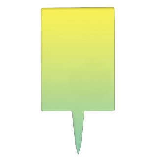 Green & Yellow Ombre Cake Topper