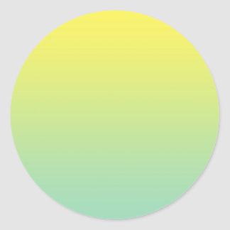 Green & Yellow Ombre Classic Round Sticker