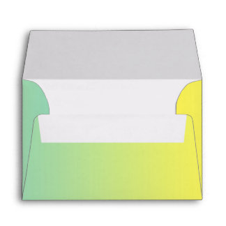 Green & Yellow Ombre Envelope
