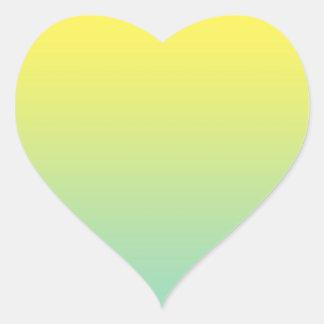 Green & Yellow Ombre Heart Sticker