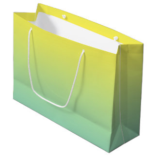 Green & Yellow Ombre Large Gift Bag