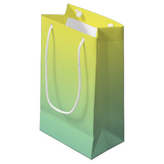 Green & Yellow Ombre Small Gift Bag